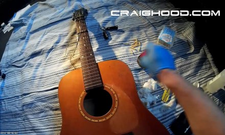 How and why I painted my 12 string guitar with spray cans (captions on please)