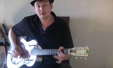 Easy blues slide guitar licks in open G lesson