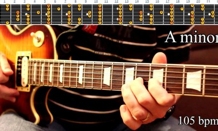 Funky Bluesy Fusion Backing Track Guitar Jam – A Minor Scale   105 bpm [NCTracks Release]