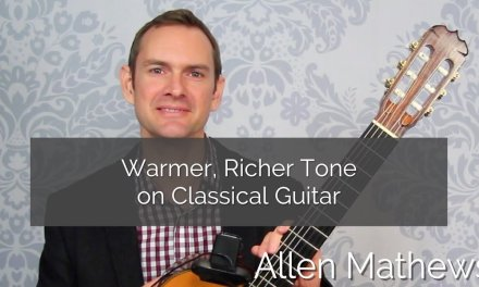 Warm, Rich Tone on Classical Guitar (even without nails)