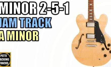 Bluesy Minor 2 5 1 Guitar Backing Track Jam in A Minor/A Harmonic Minor
