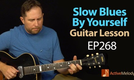 A nice and slow blues that you can play by yourself on guitar – slow blues guitar lesson – EP268