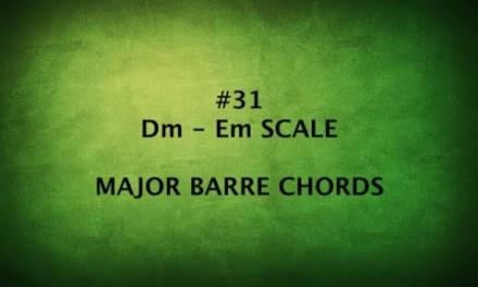 TAMIL GUITAR LESSONS #31-Dm,Em SCALES & MAJOR CHORD