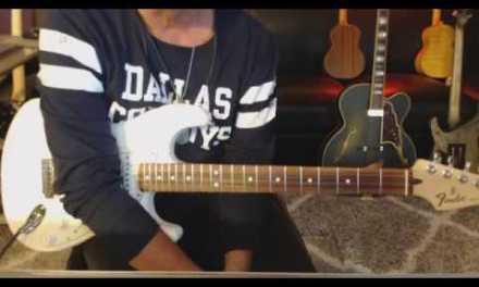 12 Bar Blues Rhythm in A Guitar Tab Preview