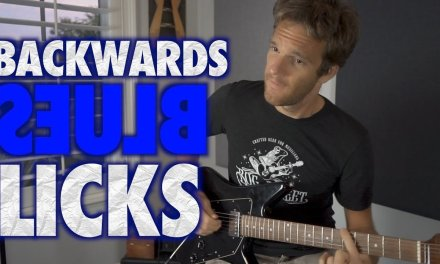 Backwards Blues Licks with Sean Daniel