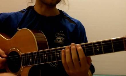 Folk guitar and pentatonic scale, Lesson 3, Part 1, GuitarKitchen.com