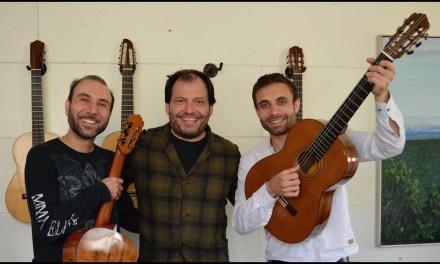 Romani Gypsy Guitarists: VS Guitar Duo visits Tsiorba Guitars studio