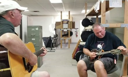 Darren Nicholson and Audie Blaylock play a 1928 Gibson F-5 Mandolin and 1936 Martin D-28 Guitar