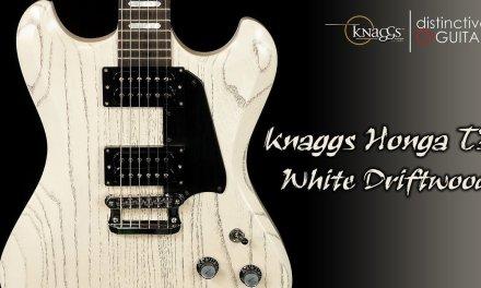 Knaggs Honga Tier 3 Guitar | White Driftwood Finish