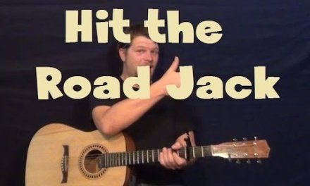 Hit The Road Jack (Ray Charles) Easy Guitar Lesson Strum Chord How to Play Tutorial