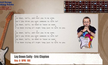 Lay Down Sally – Eric Clapton Guitar Backing Track with chords and lyrics