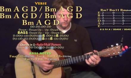 Unsteady (X Ambassadors) Guitar Lesson Chord Chart in Bm Minor – Bm G D A