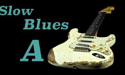 Slow Blues Guitar Jam Track in A