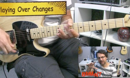Playing Over Changes Guitar Lesson