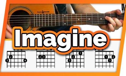 Imagine – John Lennon – Guitar Tutorial For Beginners   Imagine Easy Chords