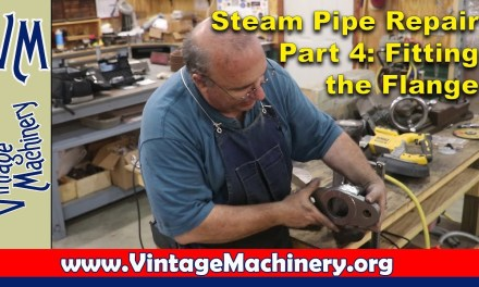 Steam Locomotive Steam Pipe Repair – Part 4: Fitting the Flange to the Pipe