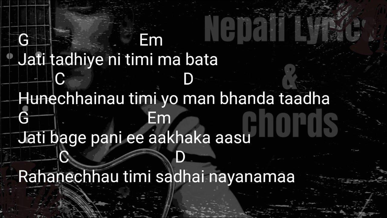 Muskan Axis Band Official Nepali Lyrics And Chords Guitar