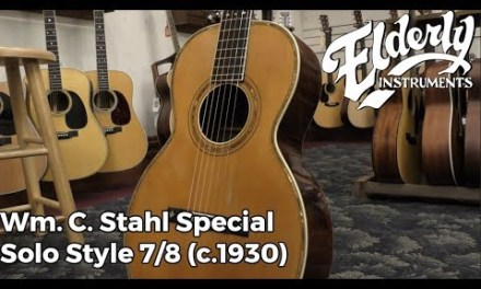 Wm. C. Stahl Special Solo Style 7/8 (c.1930)   Elderly Instruments