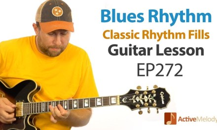 Learn several classic blues rhythm fills in this blues rhythm guitar lesson – EP272