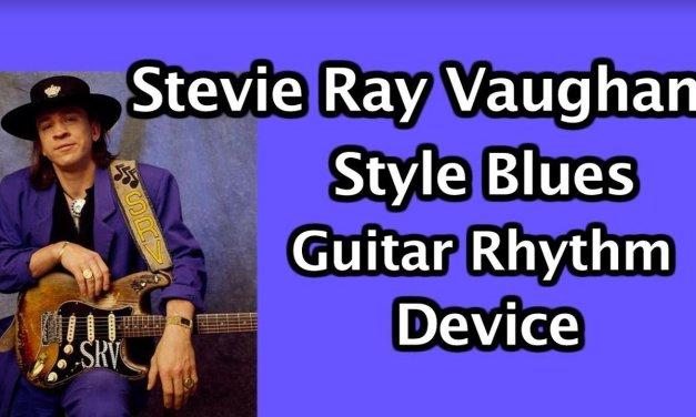 Stevie Ray Vaughan Blues style rhythm device: blues rock guitar lesson
