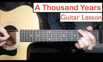 A Thousand Years – Christina Perri | Guitar Lesson (Tutorial) Chords
