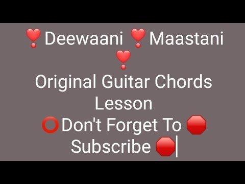 Deewani Mastani Guitar lesson