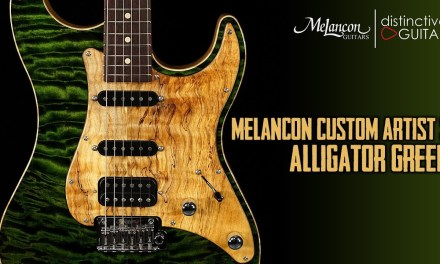 Melancon Custom Artist S | Alligator Green w/ Spalted Maple Pickguard