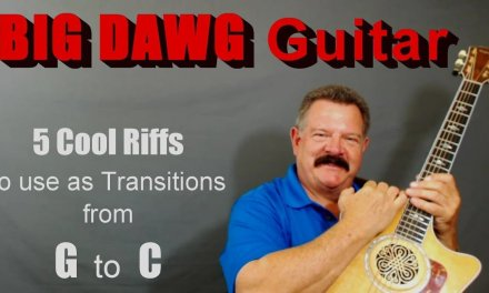"""5 Riffs to use as Transitions between """"G"""" and """"C""""  (FREE Guitar Lesson)"""
