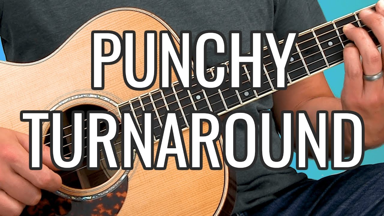 How to Play a Punchy FINGERSTYLE BLUES Turnaround