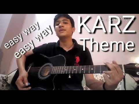 KARZ THEME ON GUITAR TABS || SINGLE STRING || MUSIC WORLD RUDRA ||