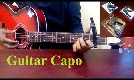 কিভাবে গিটার ক্যাপো ব্যাবহারে করবেন | গিটারে স্কেল নামানো | দাম | Guitar capo price in Bangladesh