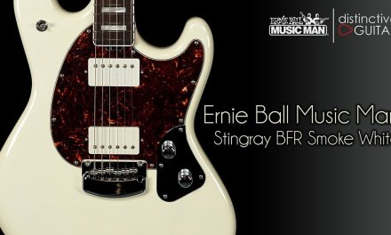 Ernie Ball Music Man Stingray BFR Guitar | White Smoke Limited Edition