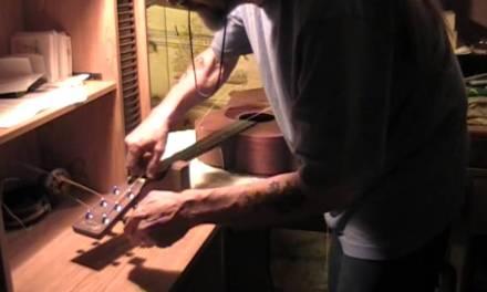 Guitar bridge repair on an acoustic guitar! Martin D15 guitar repair part 1 of 2