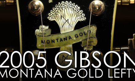 """""""Pick of the Day"""" 2005 Gibson Custom Shop Montana Gold Left-handed"""
