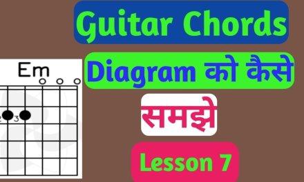 कोई भी Guitar chords को कैसे समझे ।