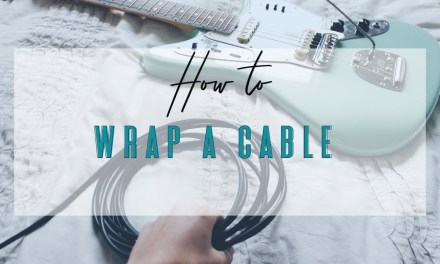How to Wrap a Guitar Cable