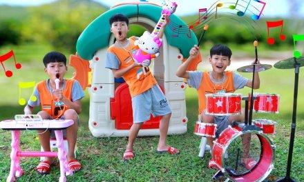 Pretend Play with Guitar Piano & Drum Toy Set Songs Nursery Rhymes By Hope Kids