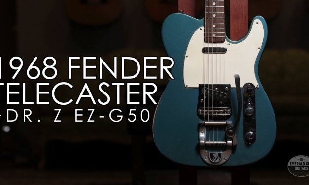 """Pick of the Day"" – 1968 Fender Telecaster Lake Placid Blue and Dr. Z EZG-50"