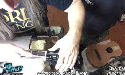 Jeff Beck Les Paul gets a setup at Pace Guitar Repair