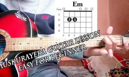 Muskurayera sushant kc guitar lesson||easy for beginner