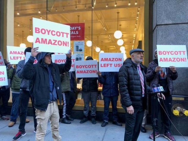 Were pro-Amazon protesters paid to be there?