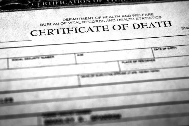 Was a death certificate stolen for a FEMA scam?