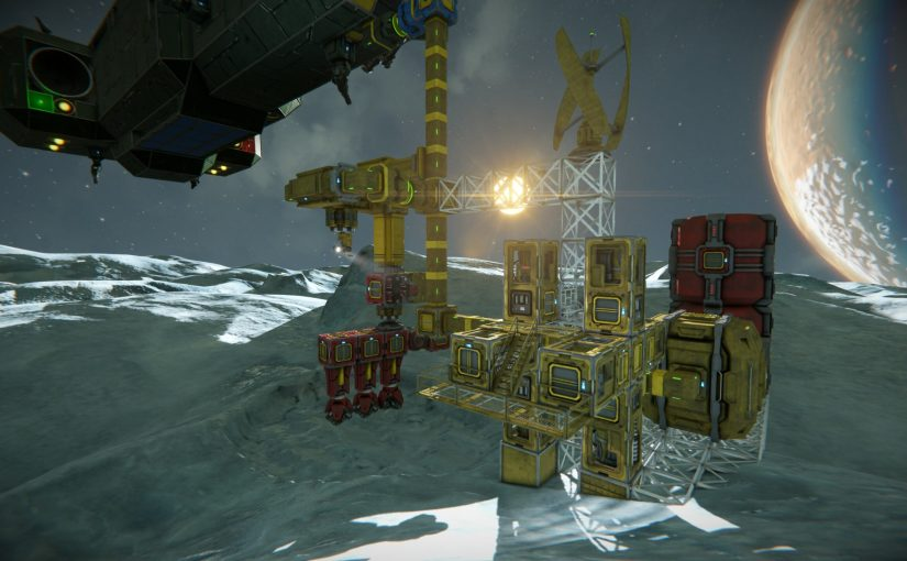 Space Engineers: All the Ice I'll Ever Need! and my new ship scripts.