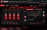 """Im MSI Command Center lassen sich weitreichend """"Stellschrauben"""" in Sachen Leistung und Kühlung beeinflussen."""