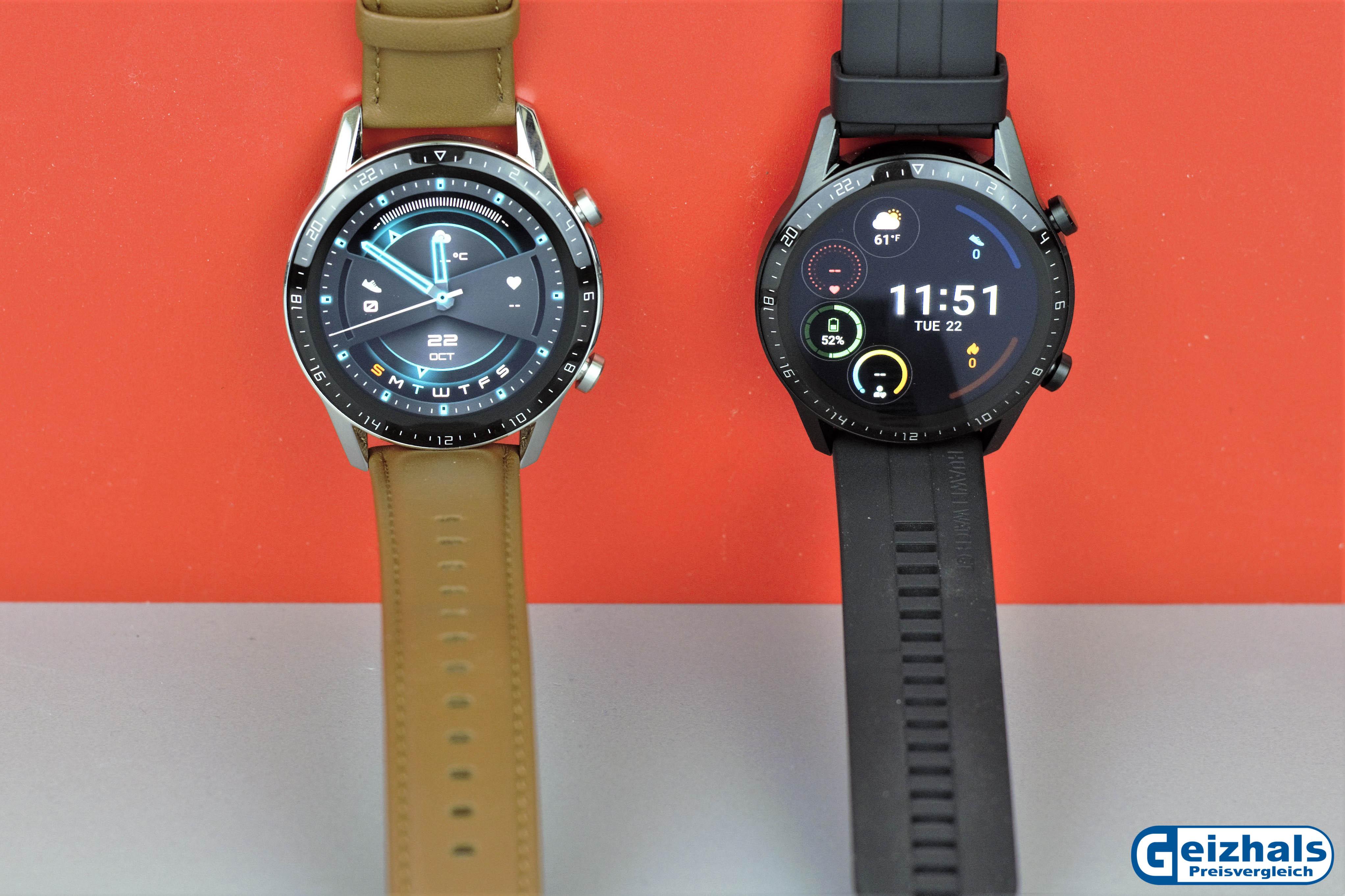 Verschiedene Ziffernblatt-Designs der Huawei Watch GT 2