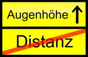 Distanz - Augenhöhe