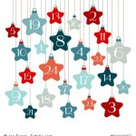 Advent Calendar Stars Blue/Red