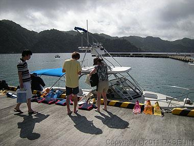 110505小笠原父島海ツアーの始まり