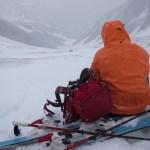季節外れの吹雪~白馬岳大雪渓