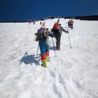 140531富士山、ひたすら登る。